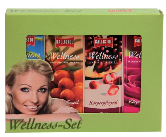 Ballistol Wellness-Öl Geschenkset 4x 10 ml Geschenkbox klein