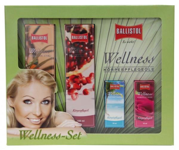 Wellness-Öl Geschenkset 2x 100 ml + 2x 10 ml Geschenkbox groß
