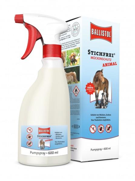 Ballistol Stichfrei Animal - Mückenschutz für Tiere - 600ml Pumpspray