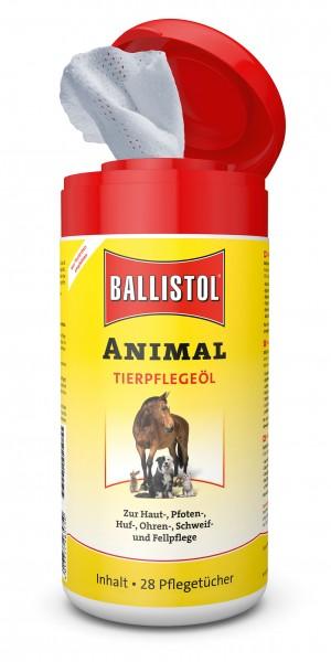 Ballistol Tierpflege-Öl Animal - Einwegtücher Spenderbox
