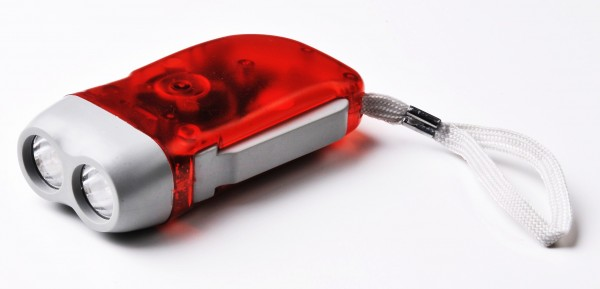 OAKWOOD LED-Dynamotaschenlampe rot/grün