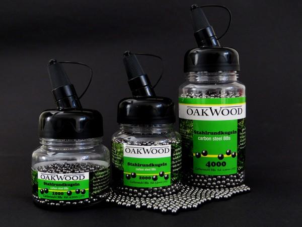 OAKWOOD Stahlrundkugeln BB's Carbon Kal. 4,5mm (.177)