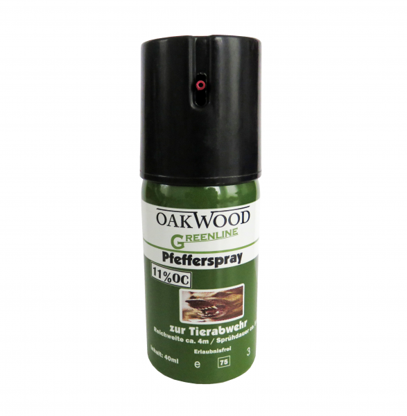 "OAKWOOD ""Green Line"" Pfefferspray 40ml 11%OC"