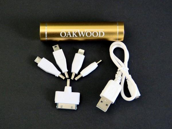 OAKWOOD Powerbank 2600 mAh gold