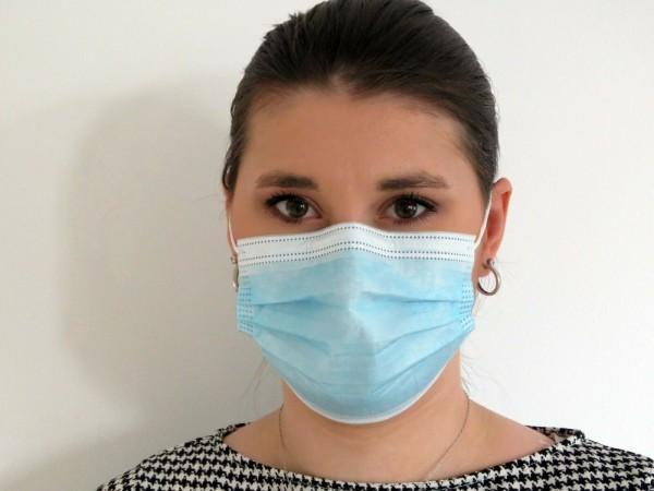Mund-Nase-Schutzmasken (MNS) / 3-lagig mit Schutzvließ & Gummiband