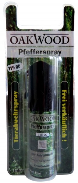 OAKWOOD Pfefferspray 15ml Blister 11%OC
